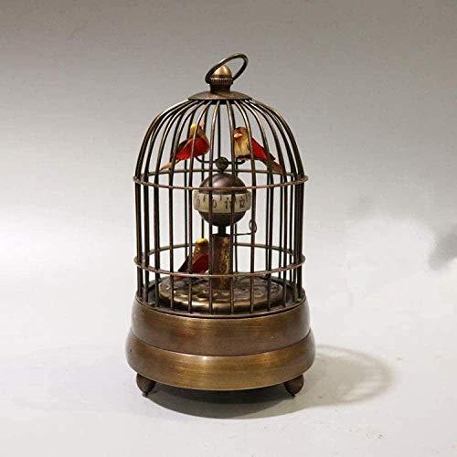 Las estatuas del Equipo de Vida recogen el Viejo Puro Coppper Forma de Jaula de pájaros Western Hang Relojes mecánicos Reloj