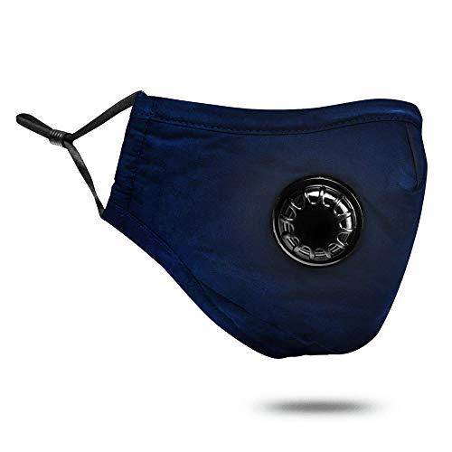 Calayu PM2.5 Staubmaske Wiederverwendbare Anti-Staub-Pollenmaske Waschbare Atemschutzmaske für Outdoor-Motorräder Motorrad (Filterpad Nicht enthalten)