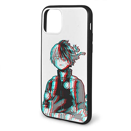 Yooan 3D Shoto Todoroki Mha Anime Kompatibel mit iPhone 12/12 Pro Max 12 Mini 11 Pro Max SE 2020 X XS Max XR 8 7 6 7s Plus Samsung Huawei Series Schwarze Handyhüllen