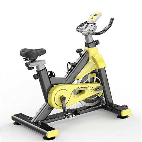 SXTYRL Bicicleta Estática, Ajuste La Tubería De Acero para Fijar La Bicicleta Transmisión Silenciosa por Correa Bicicleta Vertical Apto para Hogar y Estudio