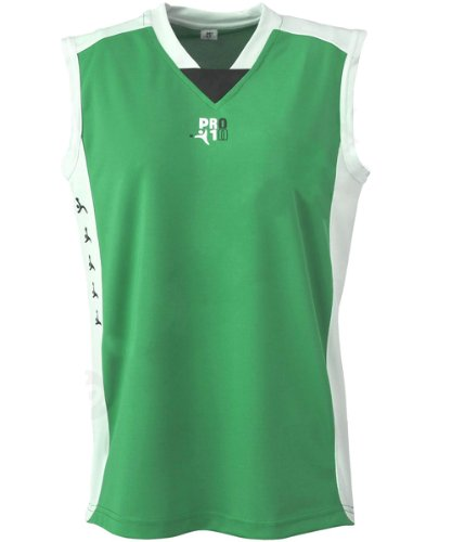 Visiodirect Maillot Basketball 100% Polyester pour Homme Taille Small de Couleur Vert