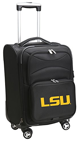 Denco NCAA LSU Tigers Carry-On Luggage Spinner