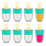 YAIKOAI 8ML Empty Lip Gloss Tube Container Blue Ice Cream Lipstick Refillable Bottle Cosmetic Makeup Lip Balm (8Pcs, Green)