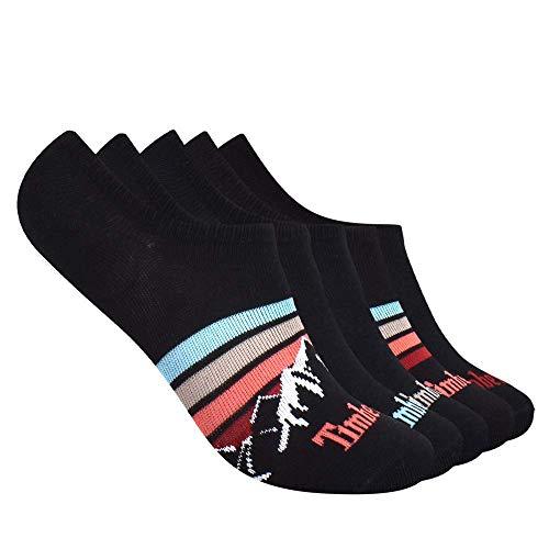Timberland Damen 5-Pack No Show Liner Besonders Kurze & anschmiegsame Socken, Black Mountain Stripe, Einheitsgröße