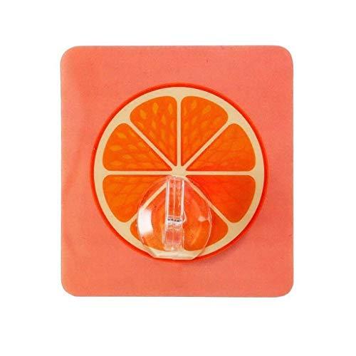 SHENNJRR schattige sterke haak in oranje zonder spijkers zonder scheuren viscose deur keuken badkamer wandhaak