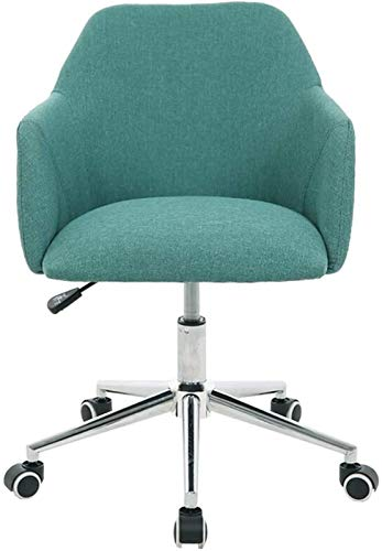 WJMLS Muebles Ergonómicos Detalles for Oficina en el hogar, Sofá de Lino Giratorio, 8cm Tarea pequeña de Altura adyuatable (Color : Dark Green)