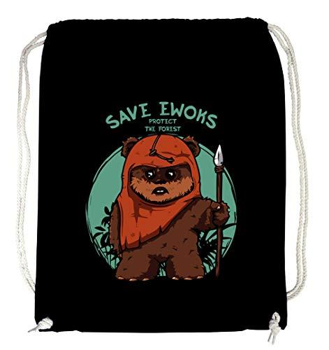 Certified Freak Save The Ewoks Gymsack Black
