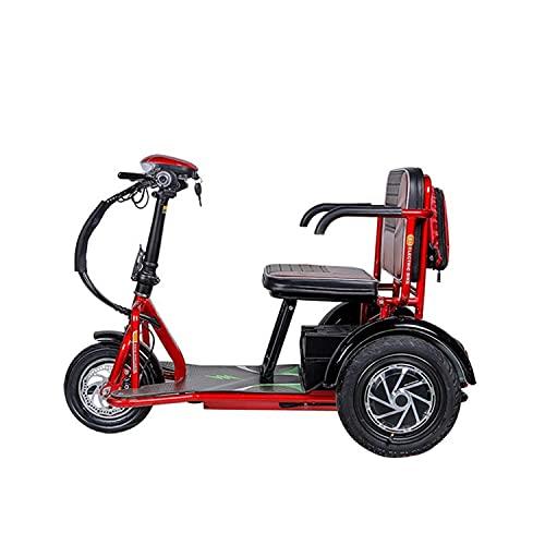 JHKGY Scooter Eléctrico Plegable De Movilidad De 3 Ruedas,Scooter Eléctrico Portátil Ligero,Scooter...