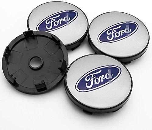 ZHNGG Coche Tapas para Tapacubos para Ford Mustang Explorer Focus Kuga,Centro Tapa Central De Rueda con Logo,Cubierta De ProteccióN contra El óXido,4 Unidades