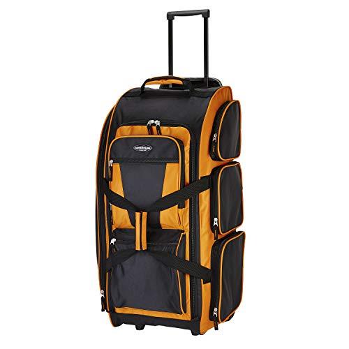 "Travelers Club Xpedition 30"" Rolling Travel Duffel Bag, Burnt Orange, 30 Inch"
