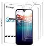 (3 Pack) Orzero for T-Mobile Revvlry Plus (Revvlry +) Tempered Glass Screen Protector, 2.5D Arc Edges 9 Hardness HD Anti-Scratch Bubble-Free (Lifetime Replacement)
