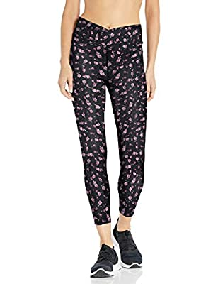 Betsey Johnson Women's All Over Print Mitered Waist Legging, Sugar Plum, Large