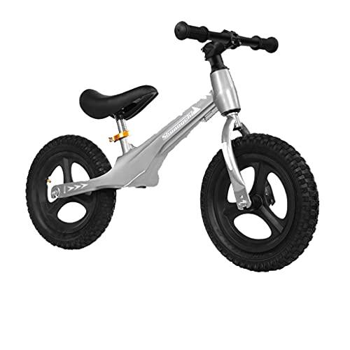 Bicicleta de Equilibrio para niños Scooter sin Pedales de 12 Pulgadas 1-3-6 años (Rojo, Negro, Rosa, Azul, Gris)