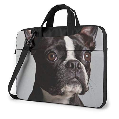 Animal Pugs Pattern Laptop Bag Messenger Bag Briefcase Satchel Shoulder Crossbody Sling Working Bag 13 Inch