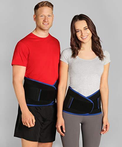 ®BeFit24 Premium Soft Lumbar Support Belt for Lower Back Pain - Flexible Sciatica Pain Relief Brace - Best for Work, Walking, Gardening, Sports - [ Size 5 - Black ]