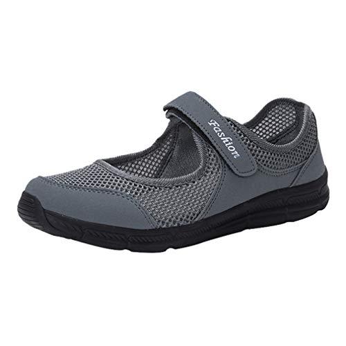 Frauen Sommer Schuhe Mesh Anti Slip Fitness Klett Sportschuhe Laufen Gehen Schock Absorbieren Sport Leistung Schuhe Gym Mary Jane Trainer