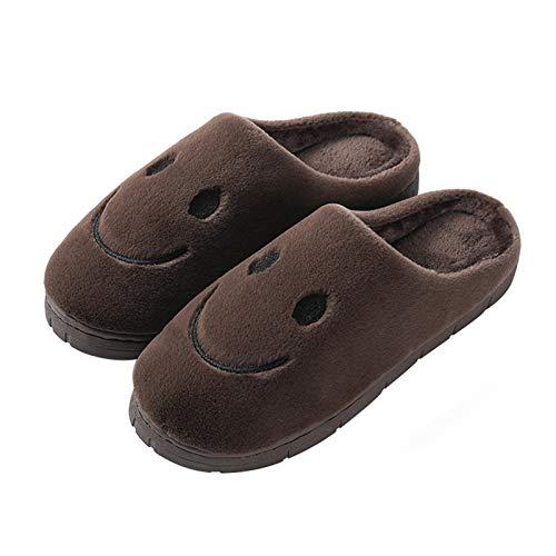 ZHXMYD Zapatillas de Felpa de Invierno para Mujer Zapatillas Cómodas Piel Ultra Suave Cómoda Mullida Cálida, de Satén Espuma Viscoelástica Suela Antideslizante Invierno para Mujer
