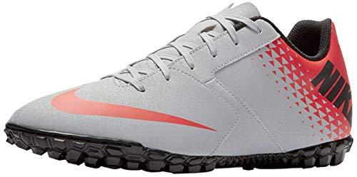 Nike Bomba Tf, Scarpe da Ginnastica Basse Uomo, Multicolore (Wolf Grey/Black/Bright Crimson 001), 42.5 EU