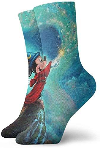 iuitt7rtree Jugend Sportsocken, Mi-ckey's Magic Crew Socks Outdoor Socken für Gilrs And Boys socks6791