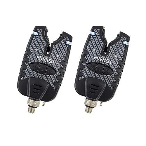 Karpfenangeln Bissanzeiger mit Blauer LED Sound Tone Control Pack von 2