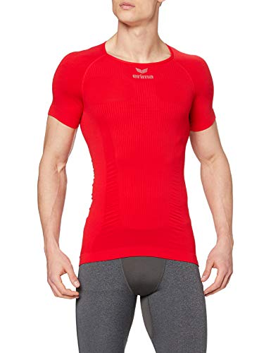 Erima 2250720 T-Shirt Mixte Adulte, Rouge, FR : L (Taille Fabricant : L)