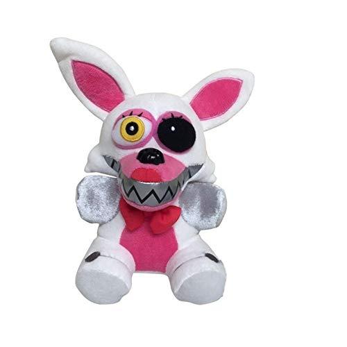 18 cm Five Nights At Freddy's FNAF Peluche de seguridad Breach Freddy Bear Foxy Chica Bonnie Muñecas de peluche suaves para regalos para niños (máscara de zorro blanco 18 cm)