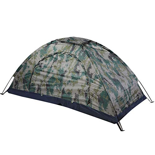SANON Portable 1 Person Tent Waterproof 3-4 Season Single Backpacking Bivy for Camping Fishing Hiking Mountaineering Backpack Travel Easy to Set Up,Camouflage