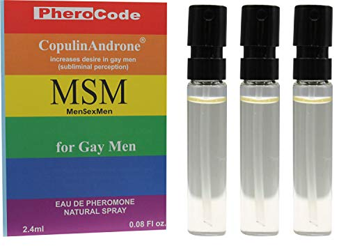PheroCode MSM Perfume for Gay Men with Pheromones 2.4ml+2.4ml+2.4ml