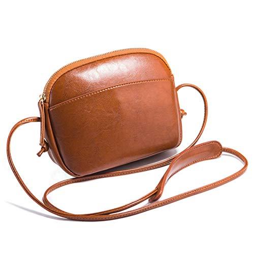 Weich echtes Ledertasche Handy-Tasche-Beutel mit Gurt Kleine Umhängetasche mit Vielen Fächern,...