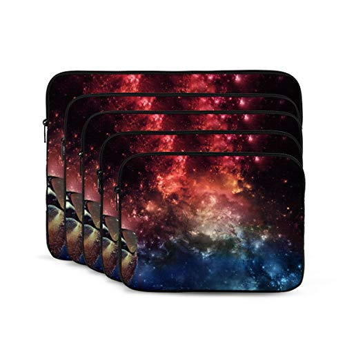 KDIEDIEAS Sloth Glasses Colorful Galaxy 12/13/15/17 Inch Laptop Sleeve Bag for MacBook Air 13 15 MacBook Pro Portable Zipper Laptop Bag Tablet Bag,Diving Fabric,Waterproof
