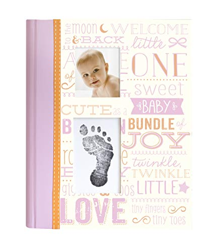 Little Blossoms Vintage Memory Book with Clean-Touch Ink Pad Included, Pink