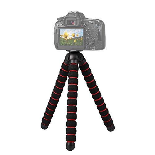 Mini Handy Stativ für Smartphone und Gopro Flexibel Gopro stativ Kamera stativ Kugelkopf Stativkopf 360 Grad Panorama und Ausziehbare Beine für/Beamer/Webcam Leicht Octopus Gorilla Dreibein -M
