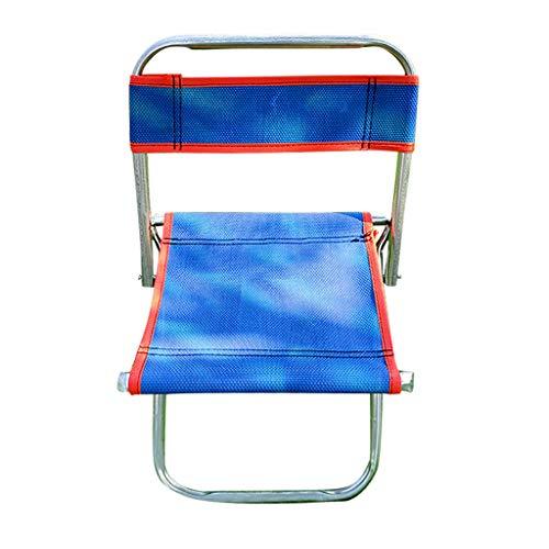 HAUXIN Rutschfester tragbarer Klappstuhl Sitzhocker zum Angeln im Freien Camping Beach Picknick Heißer bequemer Stuhl (Himmelblau)