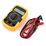 Msoauuy 【2021 Nuevo】 Mini Pocket Multímetro Digital 1999 Cuentas De 1999 AC/DC Volt Amp Amp Ohm Hfe Studuit Tester Ammeter Voltmeter