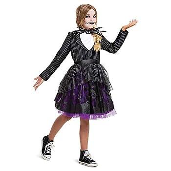 Jack Skellington Costume for Girls Official Disney Nightmare Before Christmas Costume Kids and Tween Size Dress Up Tutu