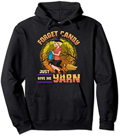 Yarn Lover Sewing Knitting Witch Pullover Hoodie product image