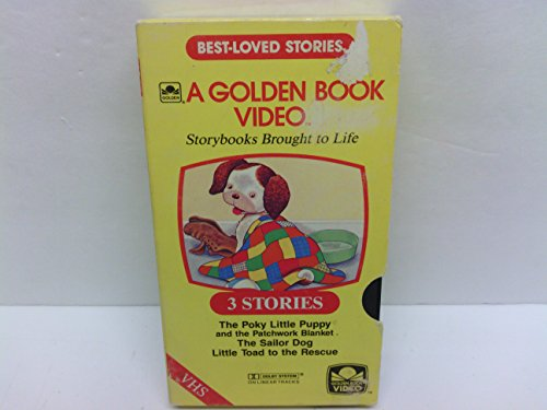 3 Best-loved Golden Book Stories ~ Poky Little Puppy and the Patchwork Blanket, The Sailor Dog, Little Toad to the Rescue