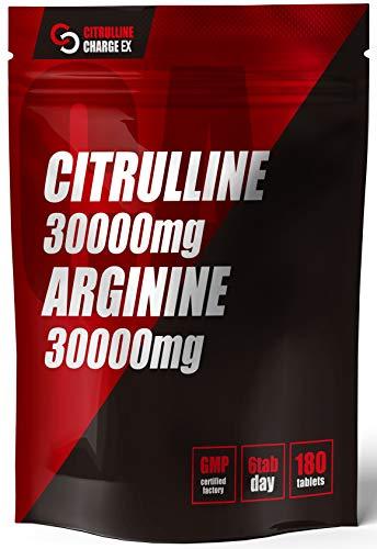 シトルリンチャージEX アルギニン 30000mg シトルリン30000mg 亜鉛 マカ サプリ 180粒30日分