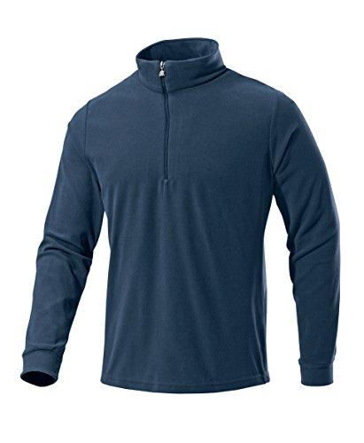 Medico Herren Ski Shirt, Fleece, Langarm, Reißverschluss(Dunkelblau, 50)