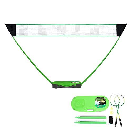 YQST Badminton Tennisnetz 3 M Badmintonnetz Garten Badmintonnetz Tragbar Federballnetz Für Indoor Outdoor Sportarten Keine Werkzeuge Oder Pfähle Erforderlich,Grün