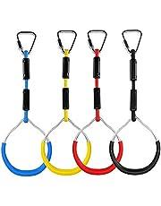 YYCFB Juego de anillos de gimnasia de colores, para jugar a la línea ninja, monos, escalada, obstáculos, columpio, juego de juguetes