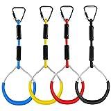 YYCFB Juego de anillos de gimnasia de colores, para jugar a la línea ninja, monos, escalada,...