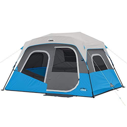 Core 6 Person / 9 Person / 10 Person / 12 Person Lighted Instant Cabin Tents (6 Person)