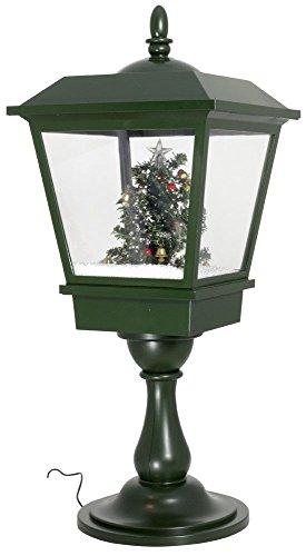 Weihnachtliche Laterne mit stimmungsvollem LED-Licht, Schneegestöber und abschaltberer Musik / Höhe ca.35cm / 230V Netzbetrieb / Trendyshop365