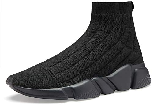 Voiv All Black Sneakers for Mens Sock Shoes Womens...