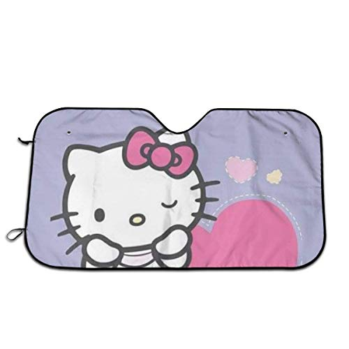 Parasol para parabrisas de coche, con diseño de Hello Kitty