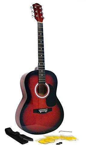 Martin Smith W-100 Akustikgitarre Set rot