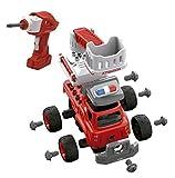 Tachan- Camión Bomberos con Sonido y Montaje Eléctrico, Radio Control, Color Rojo (CPA 7838034M)