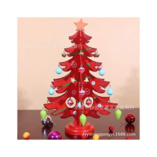 WUFANGFF Le Decorazioni di Natale/Christmas DIY Creativo/Legno/Mini Albero di Natale/Regalo di Natale