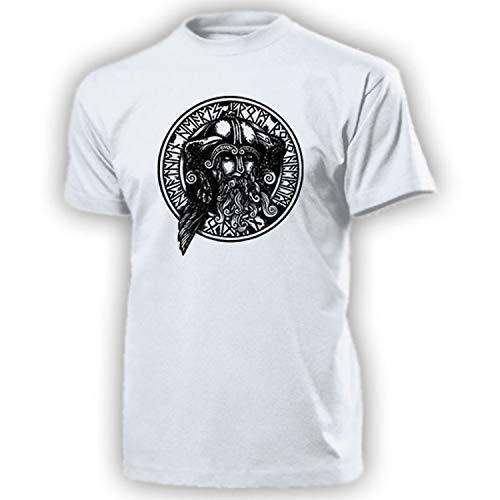 Odin y Sus Cuervos Munin Vikingo Dios Cuervo Wotan Nordmann runas-Camiseta # 13390 Blanco Medium